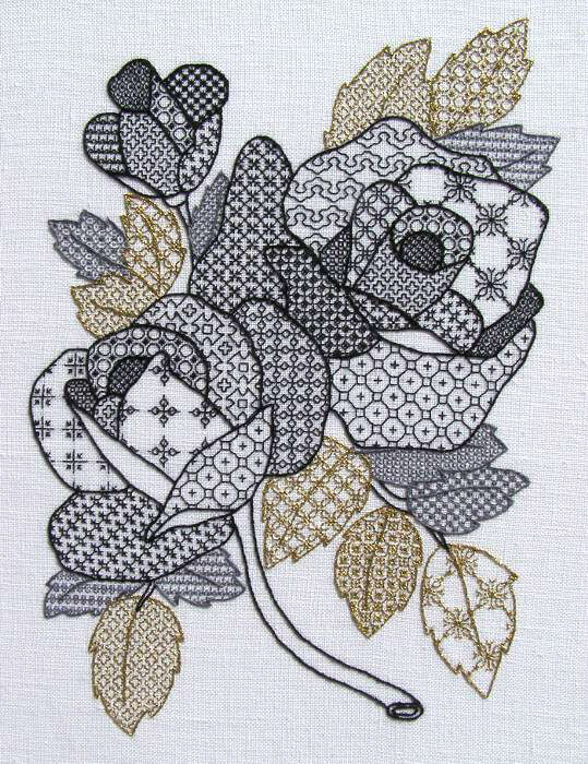 Roses Blackwork Class