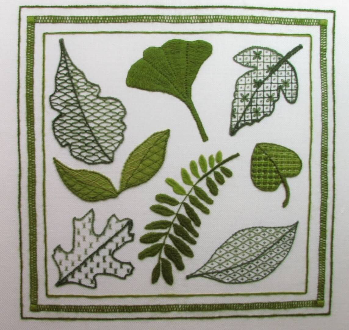 Fallen Leaves Surface Embroidery Class