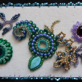 New Petite Projects: Bead Embroidery Sampler and a Romanian Point Lace Ornament