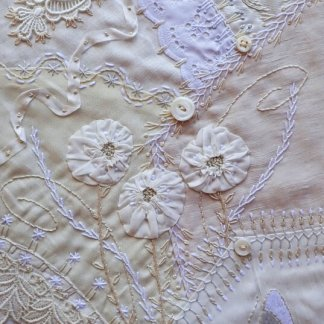 White On White Crazy Quilted Wallpiece Crazy Quilting Class