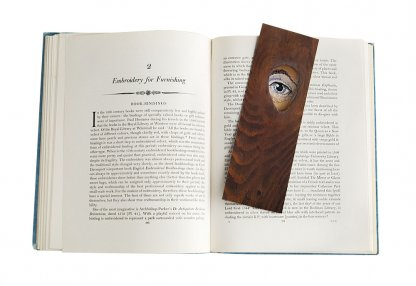 Eye Embroidery Bookmark in Book