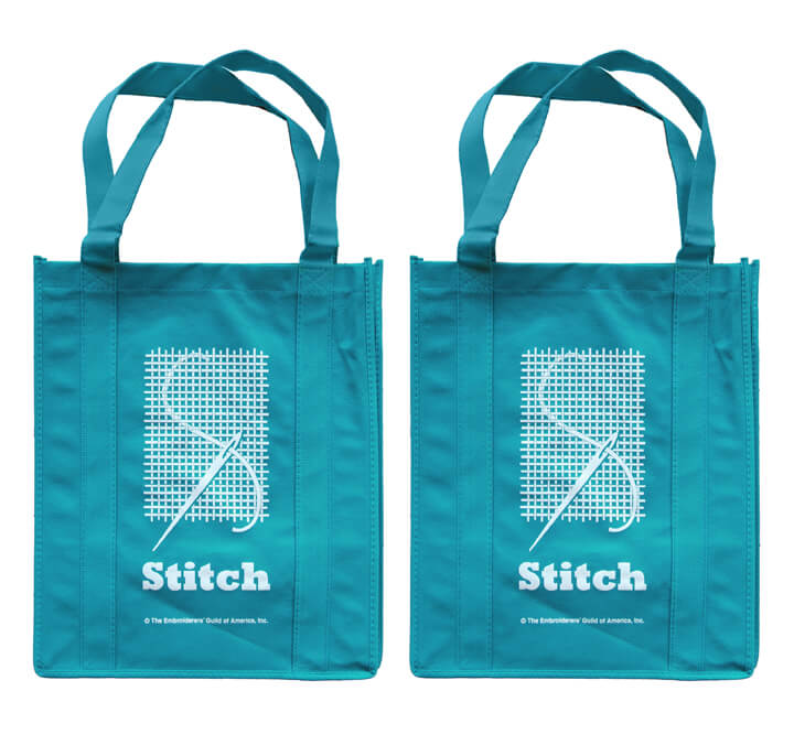 Eco Embroidery Stitch Tote Bag Set