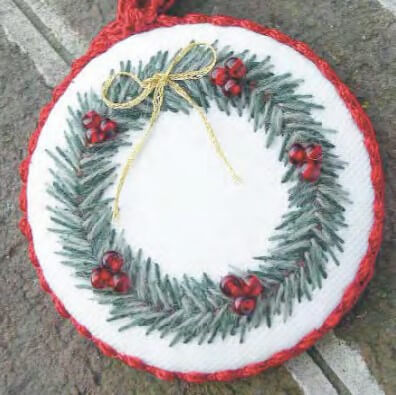 Crewel Wreath Ornament