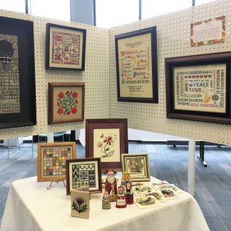 Needle Arts Guild of Toledo celebrates their members by showcasing their beautiful stitching