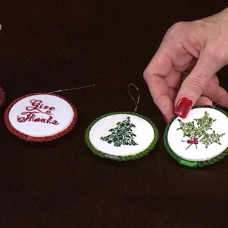 Catherine Jordan and Sheryl Borden discuss Filigree Ornaments on Creative Living