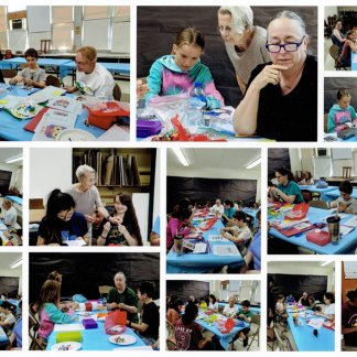 Constellation Chapter teaches peyote beading and counted cross stitch at Summer Camp
