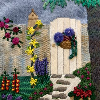 Satin Stitch: A great stitch for flowers, bricks and other areas needing dense filling