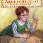 Abbie in Stitches, a book for chapters working with Young Stitchers, available while supplies last
