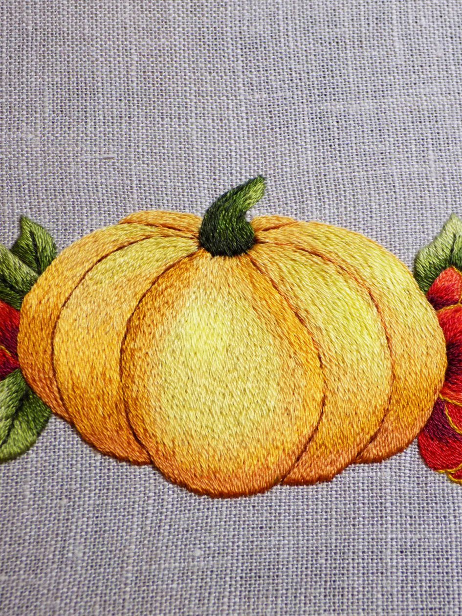 Pumpkin Embroidery Project