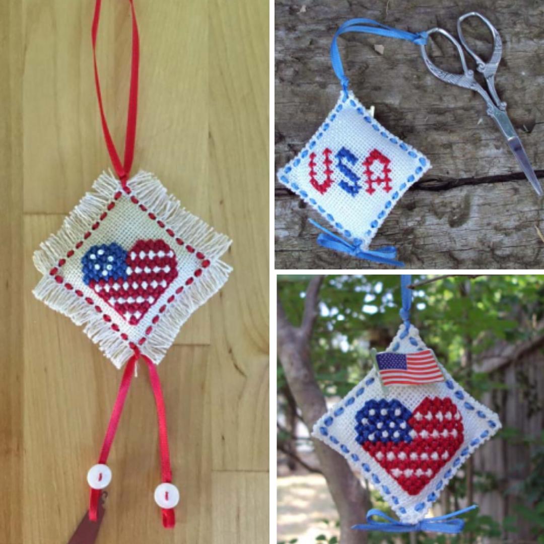 Patriotic Scissors Fob