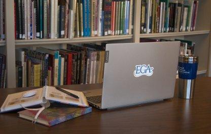 EGA Decal on Laptop
