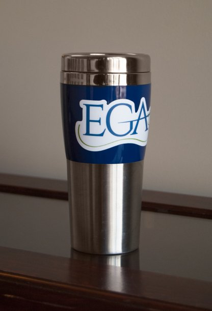 EGA Decal on Travel Mug
