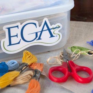 EGA Decal on Storage Box