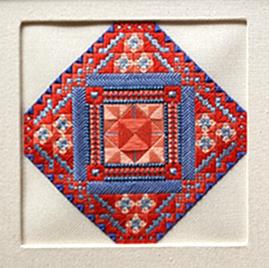 Mexican Tile in Alternate Colorway: Jill's Cornflower