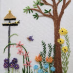 Stitch a whimsical Surface Embroidery Design in our new online class Lazy Summer Day